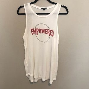 Fifth Sun Empowered White Tank Size Large